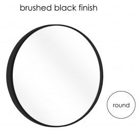 "MR315BLK 31.5"" Round Bath Mirror Brushed Black Finish"