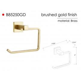 B85250GD Wall Mount Bathroom Gold Tissue Roll Holder Hanger Toilet Paper Holder, Bathroom Kitchen Paper Towel Dispenser , ALL SOLID BRASS MADE Gold Brushed Finish. High Quality Bath Hardware Home Decor Decorative