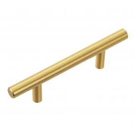 "P58078.GD Stainless Steel Gold Euro Style T Bar Cabinet Pull Handle Dia: 1/2""(12mm)"