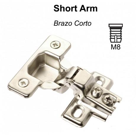 "1/2""-5/8"" OVERLAY ADJUSTABLE, CABINET HINGE SHORT ARM 1907 1907N"