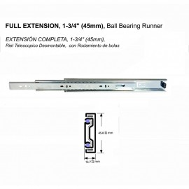 "4510A 1-3/4""(45mm), FULL EXTENSION DRAWER SLIDES"