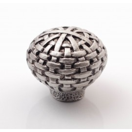 PP002 Novelty Handmade Solid Pewter Finely Sculpted Statuary Pull And Knob Of Hand Knitting Theme.