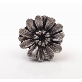 PP020 Novelty Handmade Solid Pewter Finely Sculpted Statuary Pull And Knob Of Gardens Theme.