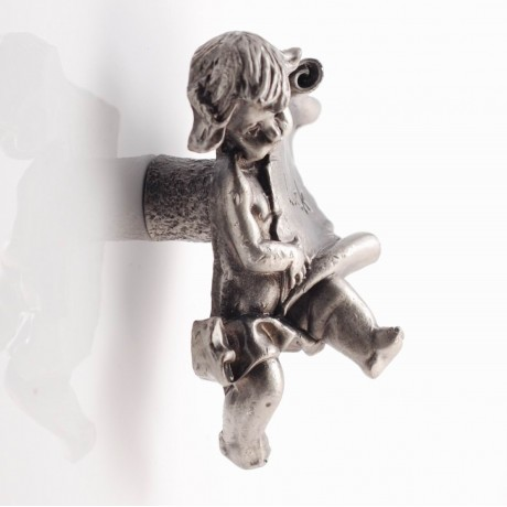 PP025 Novelty Handmade Solid Pewter Finely Sculpted Statuary Pull And Knob Of Angels Theme.