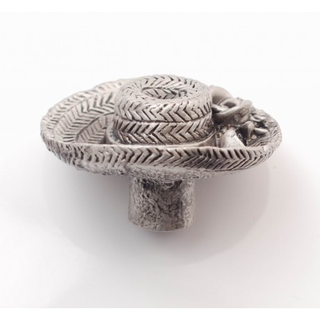 PP067 Novelty Handmade Solid Pewter Finely Sculpted Statuary Pull And Knob Of Hand Knitting Theme.