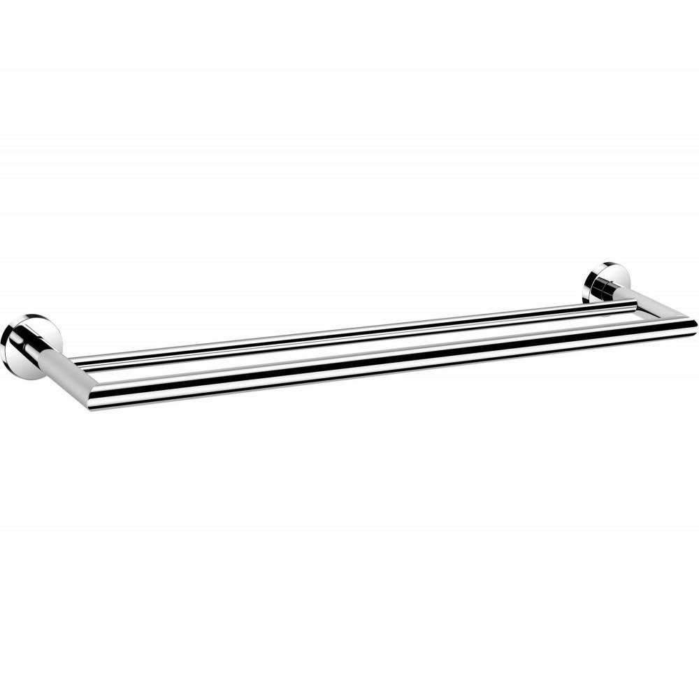 "B136182/45CP 18"" (45cm) & B136242/60CP 24"" (60cm) Bathroom Wall Mount Chrome Double Towel Bar Towel Rail Holder, ALL SOLID BRASS MADE Bright Polished Chrome Finish."