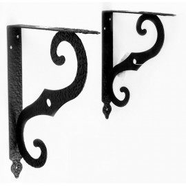 70019 Antique black steel shelf support Wall Mounting Bracket Frame Racks Wall Bookshelf (2PCS/pack)