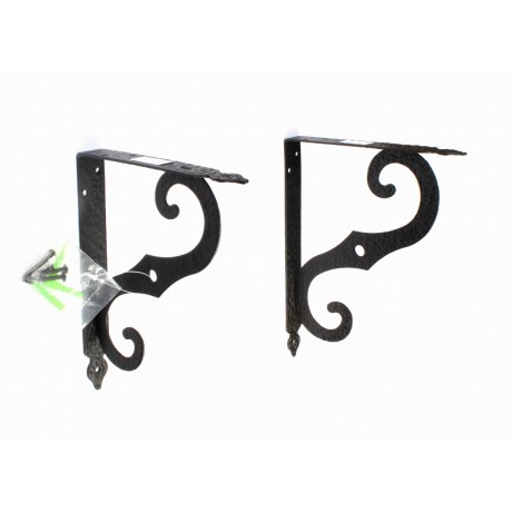 70019 Antique black steel shelf support Wall Mounting Bracket Frame Racks Wall Bookshelf (2PCS/pack)