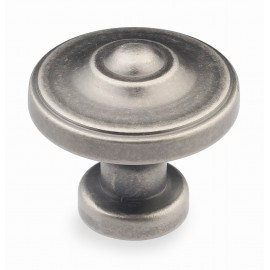 "N88622/33AP 1-3/8"" inch (33mm) Beautiful Vintage Classic Elegent Style Design Antique Pewter Kitchen Cabinet Knob Closet Wood Door Knob handle Cabinet Door Decorative Hardware Home Decor Furniture Pull Drawer Knob Cupboard Pull"