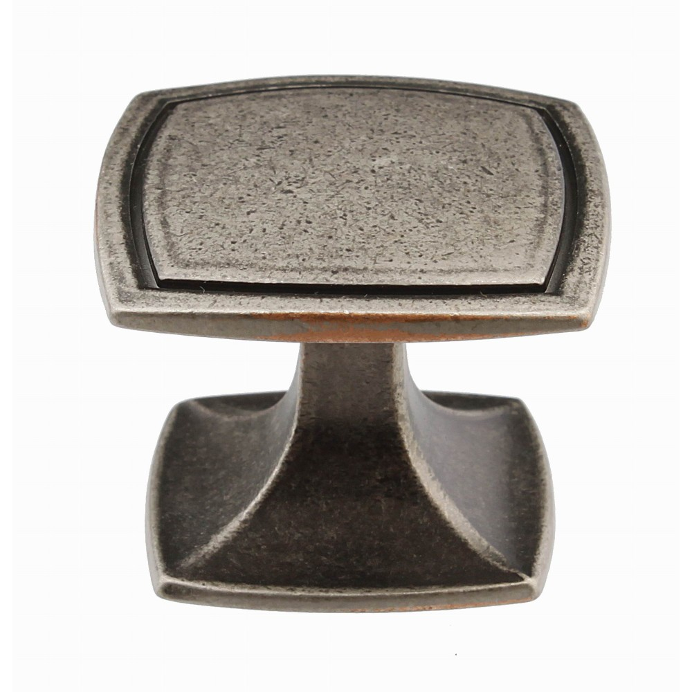 "N88704/40ARS 1-1/2"" inch (40mm) Beautiful Vintage Aged Victorian Antique Ruby Silver Kitchen Cabinet Knob Closet Wood Door Knob handle Cabinet Door Decorative Hardware Home Decor Furniture Pull Drawer Knob Cupboard Pull"