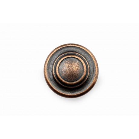 "N88555/32AC 1-1/4"" inch (32mm) Beautiful Vintage Antique Copper Kitchen Cabinet Knob Closet Wood Door Knob handle Cabinet Door Decorative Hardware Home Decor Furniture Pull Drawer Knob Cupboard Pull"