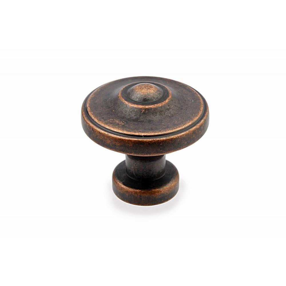 "N88622/33AC 1-3/8"" inch (33mm) Beautiful Vintage Antique Copper Kitchen Cabinet Knob Closet Wood Door Knob handle Cabinet Door Decorative Hardware Home Decor Furniture Pull Drawer Knob Cupboard Pull"
