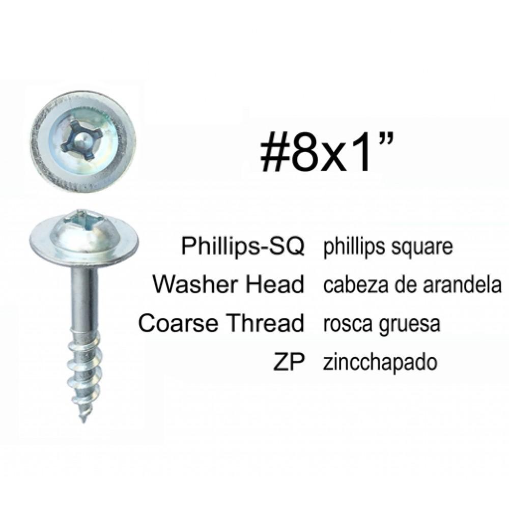 SC81 LRG MOD TRUSS SQ/PHILLIPS COMB QUICK DR SCREW ZP