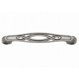 """P407/128AS 5"""" inch (128mm) Beautiful Vintage Antique Silver, True Silver finish Kitchen Cabinet Pull Handle Closet Wood Door Pull handle Cabinet Door Decorative Hardware Home Decor Victorian Fashion Silver Home Decor Cabinet Furniture Pull"""