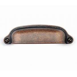 """P8S001/76AC 3"""" inch (76mm) Beautiful Vintage Antique Copper Kitchen Cabinet Pull Handle Closet Wood Door Pull handle Cabinet Door Decorative Hardware Home Decor Cabinet Furniture Pull Drawer Handle Cupboard Pull"""
