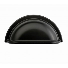 """3""""""""inch (76mm)P9001/76BLK Flat Black Finish Powder Coated Euro Design Modern Style Kitchen Cabinet Pull Handle Closet Wood Door Pull Handle Cabinet Door Decorative Hardware Home Decor Cabinet Furniture Pull Drawer Handle Cupboard Pull"""