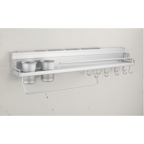 K0001 Kitchen Storage Rack Wall Mount Tool Cookware Holder Shelf Hanger