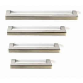 "P58587.SS Stainless Steel Euro Style  Square Bar Pull Handle Dia:1/2""X1/2""(12X12mm)"