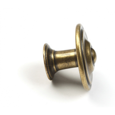 "N88151/34AE 1-3/8"" inch (34mm) Beautiful Vintage Antique English Brass Finish Kitchen Cabinet Knob Handle Closet Wood Door Knob Cabinet Door Decorative Hardware Home Decor Cabinet Furniture Knob Pull Drawer Handle Cupboard Pull Knob"