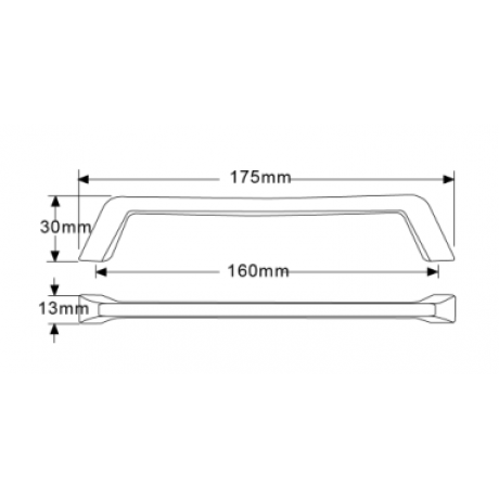 """6-1/4"""" inch (160mm) P88957/160SN Slightly Brushed Satin Nickel Euro Design Modern Style Kitchen Cabinet Pull Handle Closet Wood Door Pull handle Cabinet Door Decorative Hardware Home Decor Cabinet Furniture Pull Drawer Handle Cupboard Pull"""