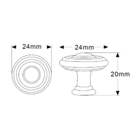 "9/10"" inch (24mm) N88727/24ABB Antique Bronze Brushed style Kitchen Cabinet Knob pull Closet Wood Door Knob Cabinet Door Decoration Hardware Home Decor Furniture Handle Knob Drawer Knob Cupboard Knob"